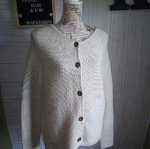 Vintage Orvis Mens Small Knit CREAM cardigan